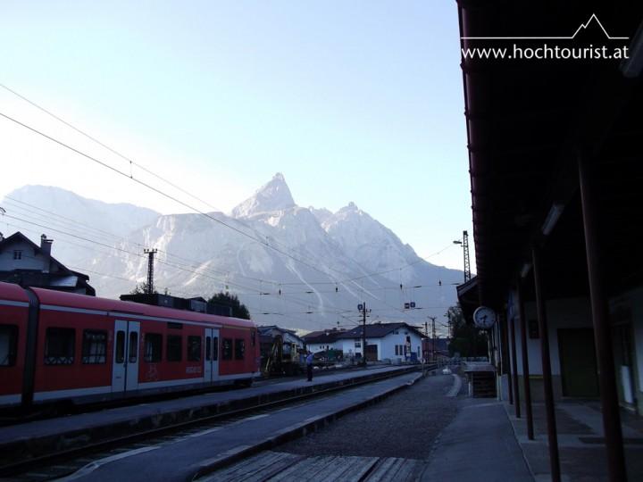 Zwar nicht die Zugspitze, aber dennoch ein schöner Zinken in der Landschaft: die Ehrwalder Sonnspitze.