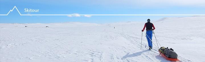 Mit Fjellski und Pulka in der Hardangervidda: Mini-Expedition von Finse nach Ustaoset