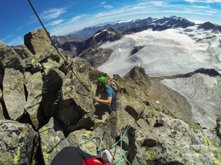 Fast am Gipfel. Letztes Boulderproblem mit Müh' und Not geflashed!