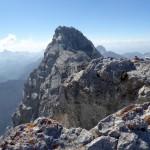 Ein Blick zurück zur Mittelspitze