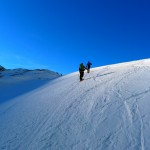 Bereits am Gletscher.