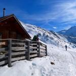 Die Schäferhütte, im Sommer von Italienern auf österreichischem Boden bewirtschaftet.