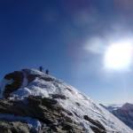 Bereits am Gipfel